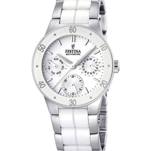 Festina Damen-Armbanduhr XS Trend Ceramic Multifunktion Chronograph Keramik F16530/1
