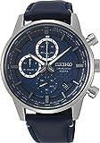 Seiko Herren Chronograph Automatik Uhr mit Leder Armband SSB333P1