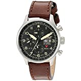 Ingersoll Herren Chronograph Automatik Uhr mit Leder Armband IN1513SBK