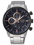 Seiko Herren Chronograph Automatik Uhr mit massives Edelstahl Armband SSB331P1
