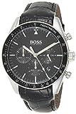 Hugo Boss Herren Chronograph Quarz Uhr mit Leder Armband 1513625