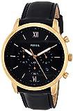 Fossil Herren Chronograph Quarz Uhr mit Leder Armband FS5381