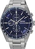 Seiko Herren Chronograph Solar Uhr mit massives Edelstahl Armband SSC719P1
