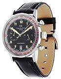 Carl von Zeyten Herren Chronograph Automatik Uhr mit Leder Armband CVZ0020BK